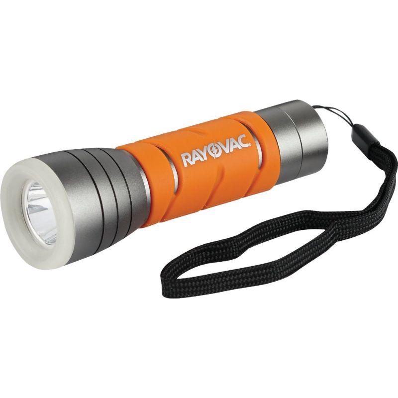 Rayovac Sportsman Essentials Glow In The Dark LED Flashlight Silver