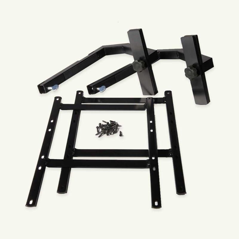 Love Your Deck Railing Table Hardware Kit Black