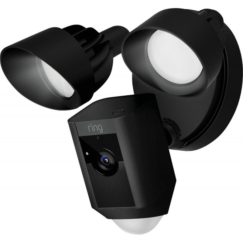 Ring Security Camera With Floodlight Black