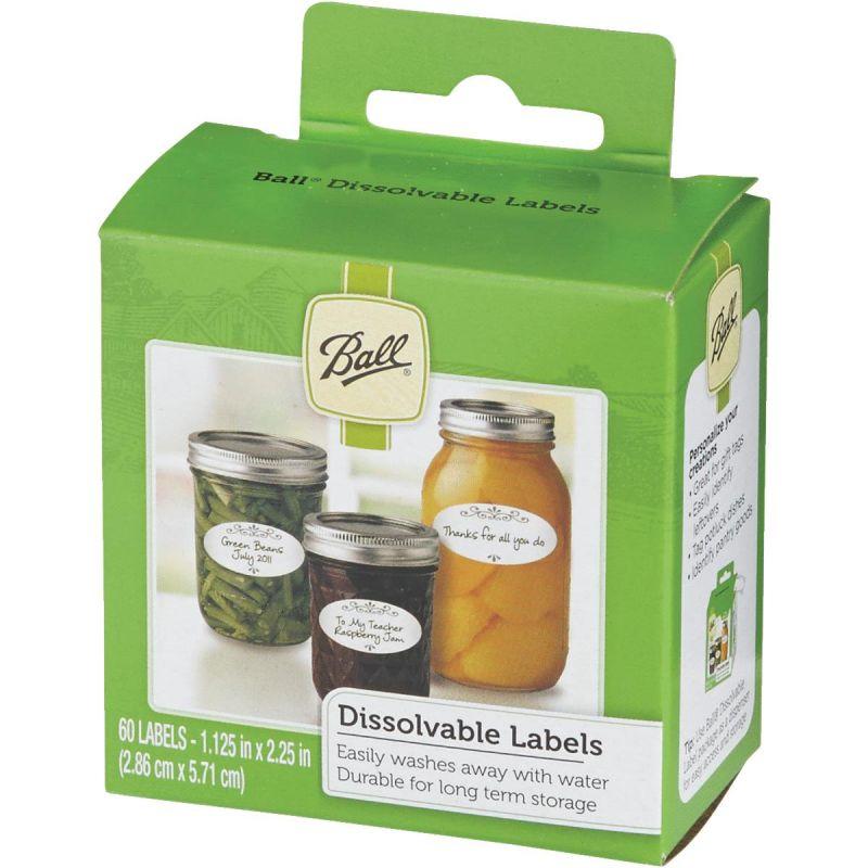 Ball Dissolvable Jar Label 1.125 In. W. X 2.25 In. L.
