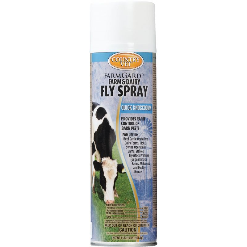 Country Vet FarmGard Fly Spray 16 Oz., Aerosol Spray