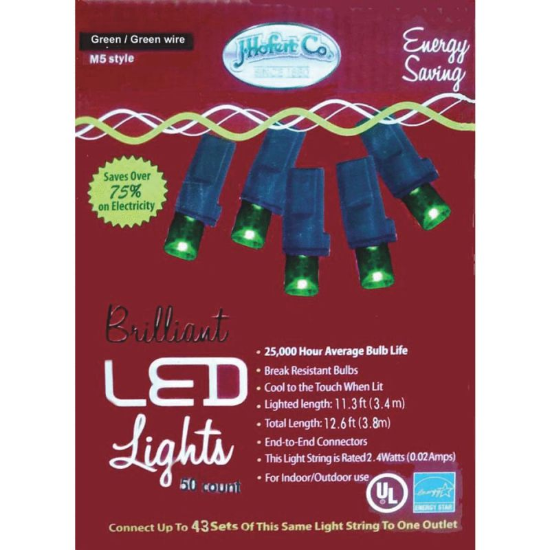 J Hofert Green 50-Bulb M5 LED Light Set