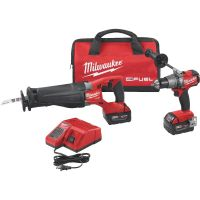 Milwaukee M18 FUEL Brushless Lithium-Ion Drill/Reciprocating Saw Cordless Tool Combo Kit