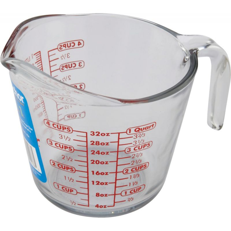 Anchor Hocking Measuring Cup 32 Oz., Clear (Pack of 3)