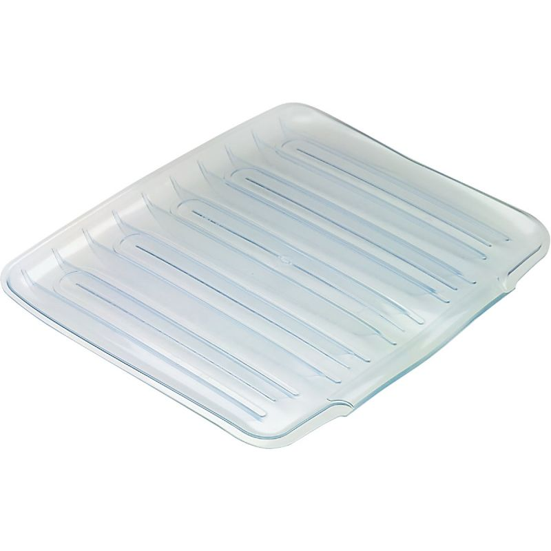 Rubbermaid Sloped Drainer Tray 14.38 In. W. X 1.3 In. H. X 15.38 In. L., Clear