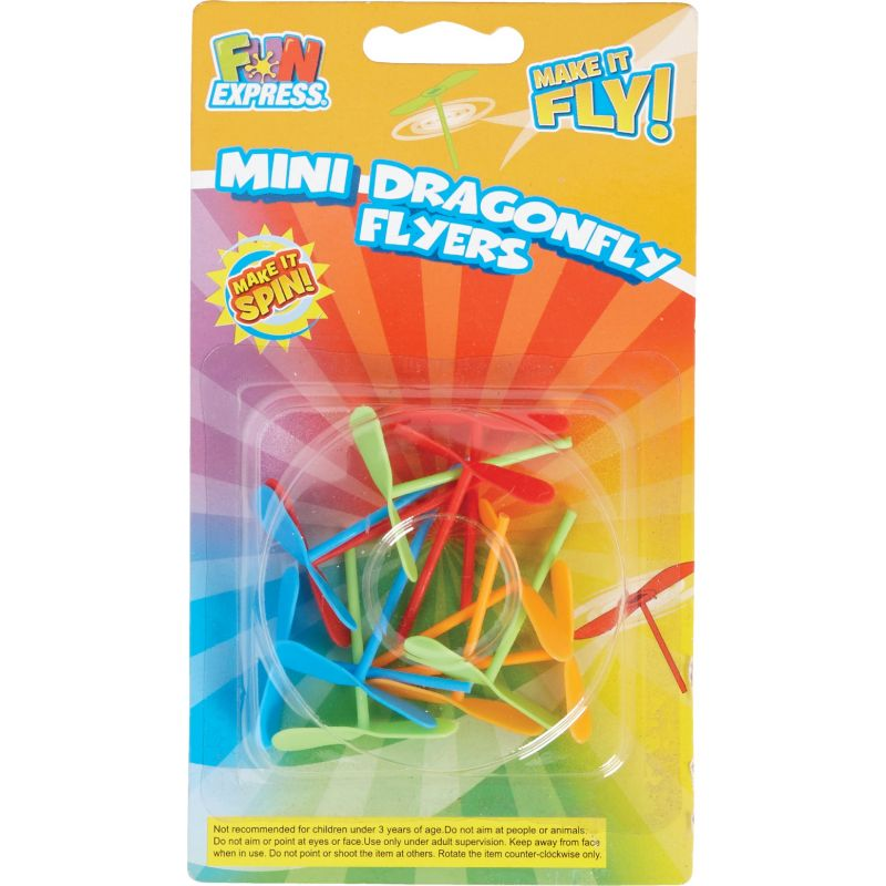 Fun Express Mini Dragonfly Flyers 1-1/2 In., Assorted (Pack of 12)