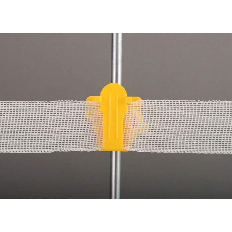 Dare Western Round Post Tape Electric Fence Insulator Yellow, Screw-On
