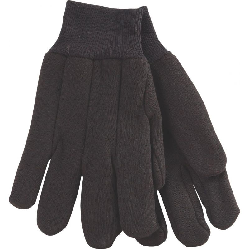 Do it Lined Jersey Work Glove With Knit Wrist L, Brown