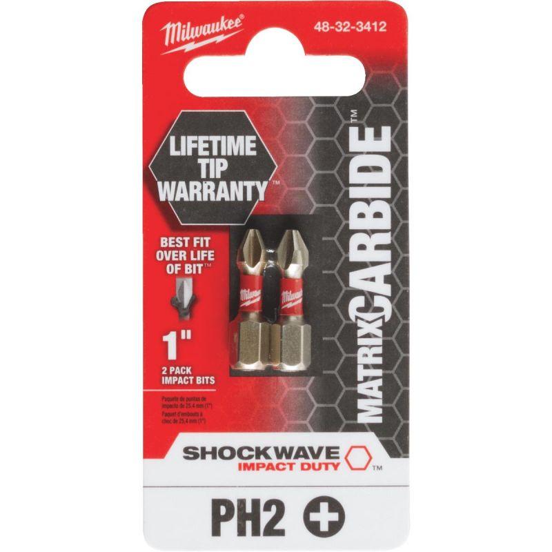 Milwaukee Shockwave Matrix Carbide Power Impact Screwdriver Bit Phillips #2