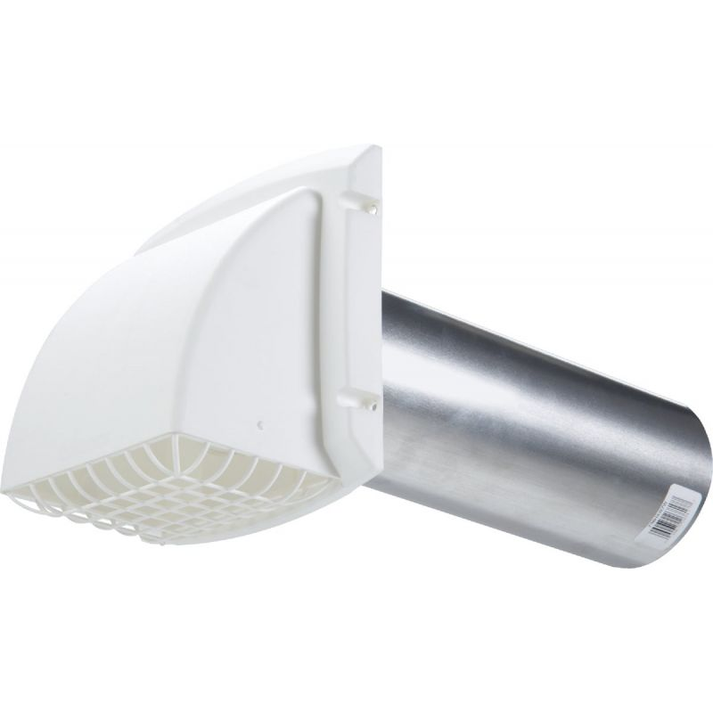 Dundas Jafine ProMax Dryer Vent Hood 4 In., White
