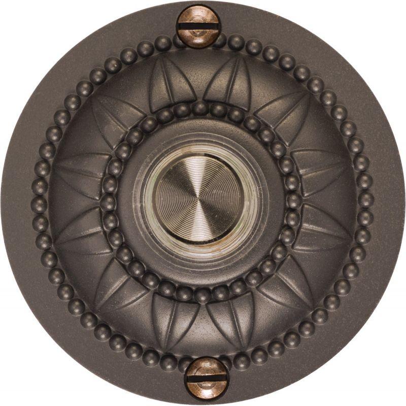 IQ America Medallion Design Lighted Doorbell Push-Button