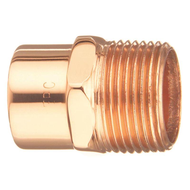 Mueller Streamline Male Copper Adapter 1/2 In.