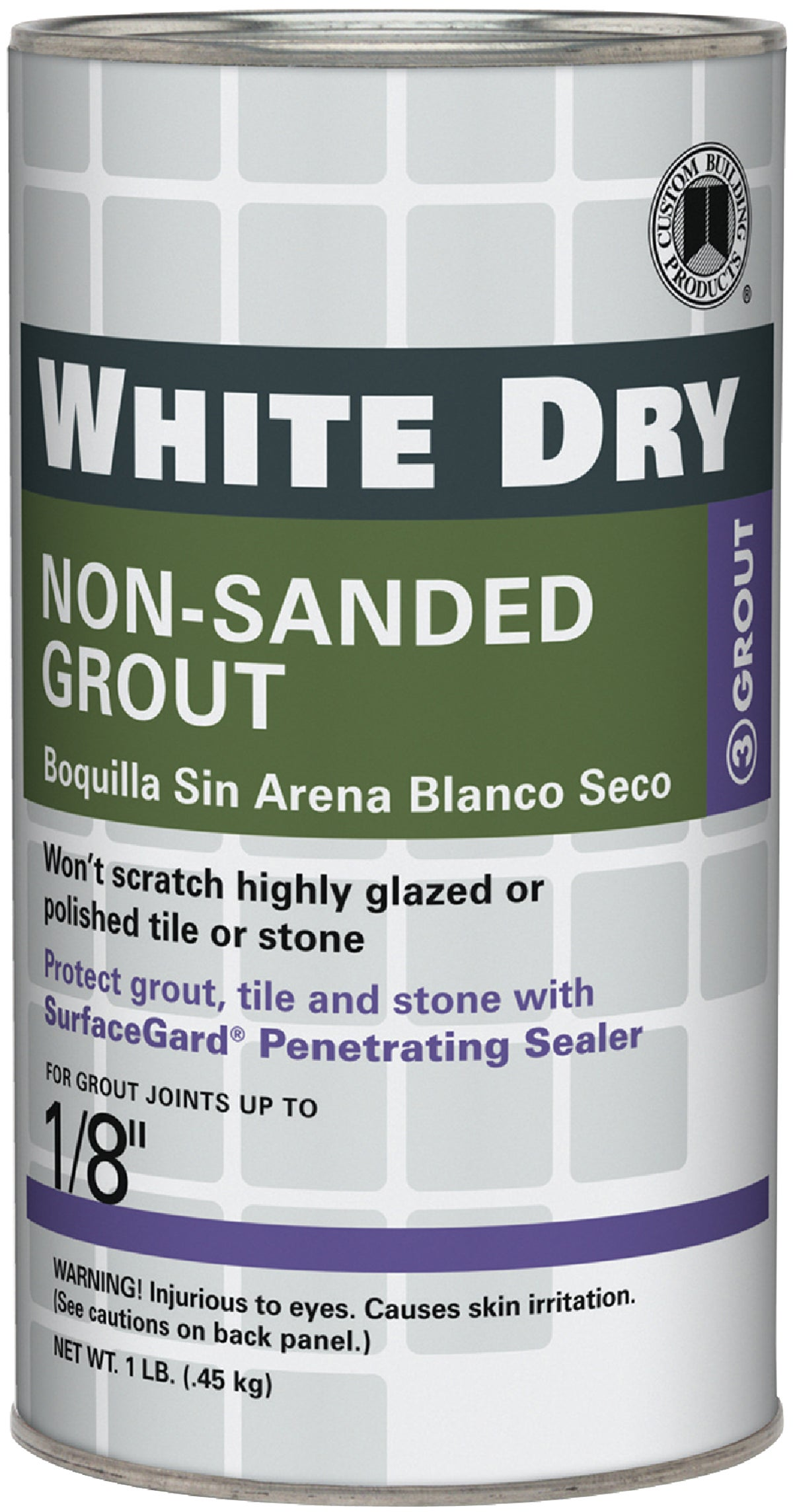 White Dry Tile Grout 1 Lb Pack