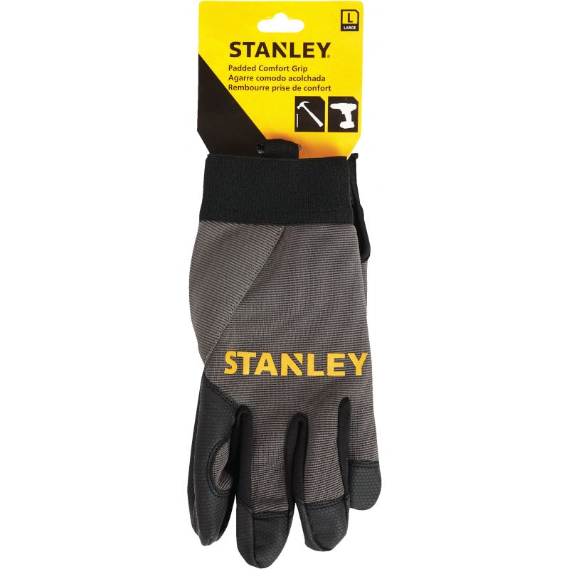 Stanley Padded Comfort Grip High Performance Glove L, Black