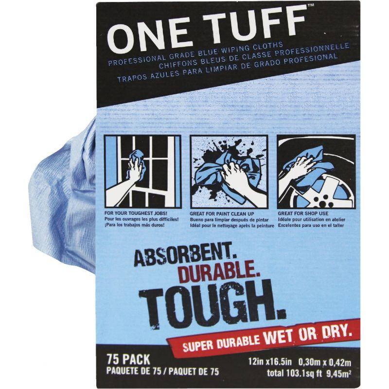Trimaco One Tuff Professional Grade Blue Wiping Cloth Rags Blue