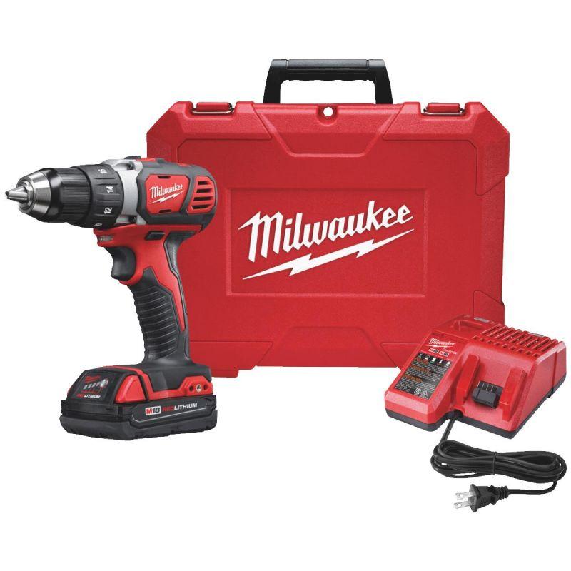 Milwaukee M18 Lithium-Ion Compact Cordless Drill Kit
