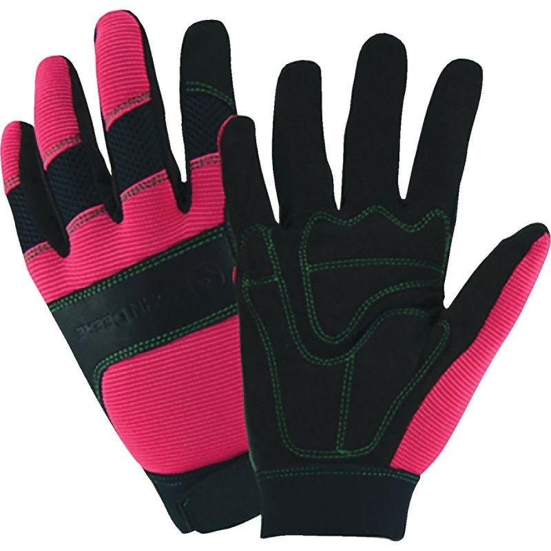 West Chester John Deere Winter Work Glove L, Pink & Black