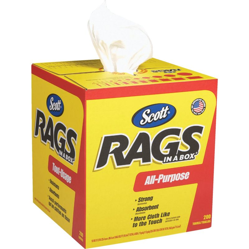 Scott Rags In A Box Various, White