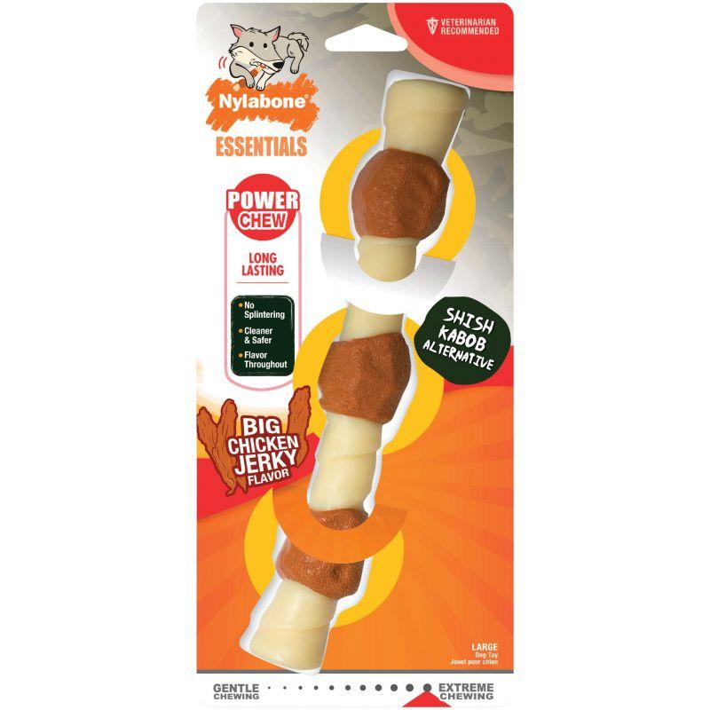 Nylabone Essentials Power Chew Shish Kabob Dog Toy Large, White & Brown