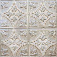 Tru-METAL Nonsuspended Ceiling Tile & Backsplash Tile (Pack of 5)