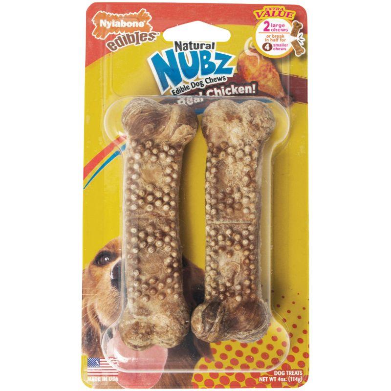 Nylabone Edibles Natural Nubz Dog Treat Chew 2-Pack