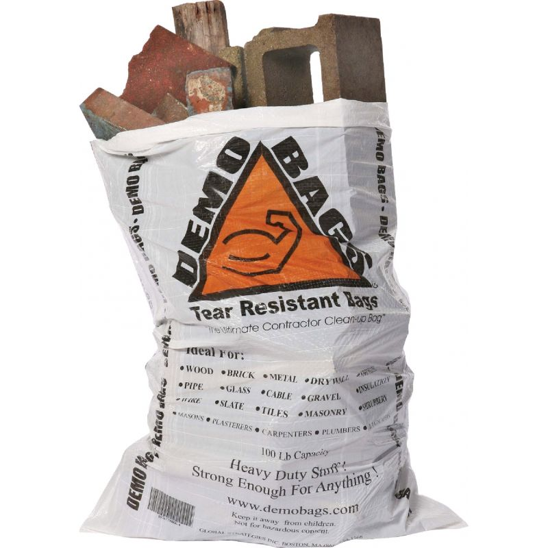 Demo Bag Contractor Trash Bag 42 Gal., White (20-Count)
