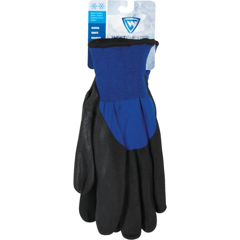 West Chester Nitrile Coated Winter Glove M, Blue & Black