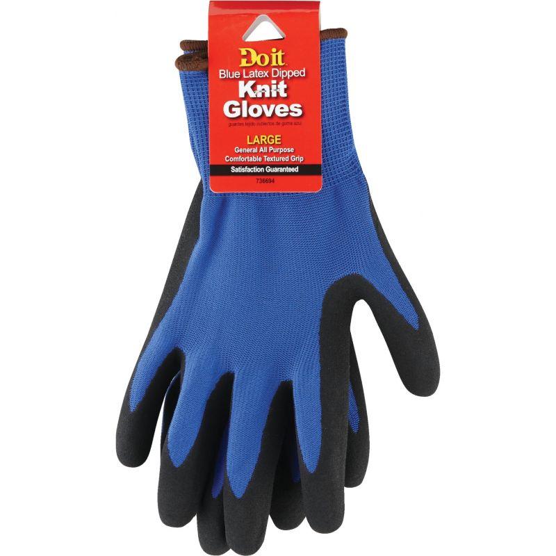 Do it Grip Latex Coated Glove L, Blue