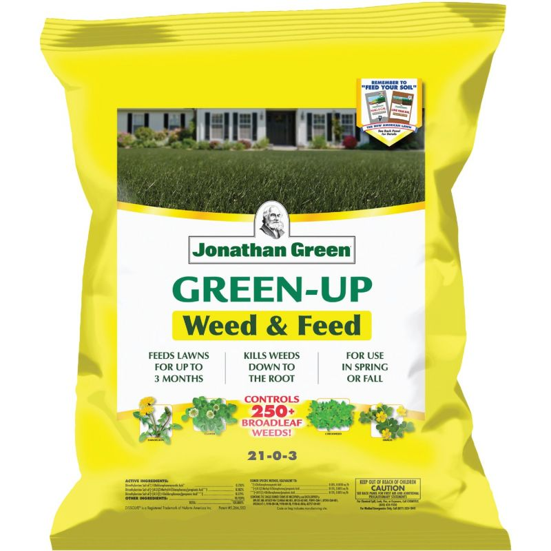 Jonathan Green Green-Up Weed & Feed Lawn Fertilizer With Weed Killer 16 Lb.