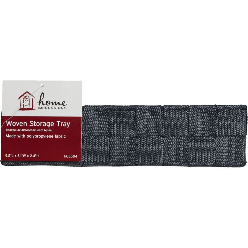 Home Impressions Woven Storage Tray Gray