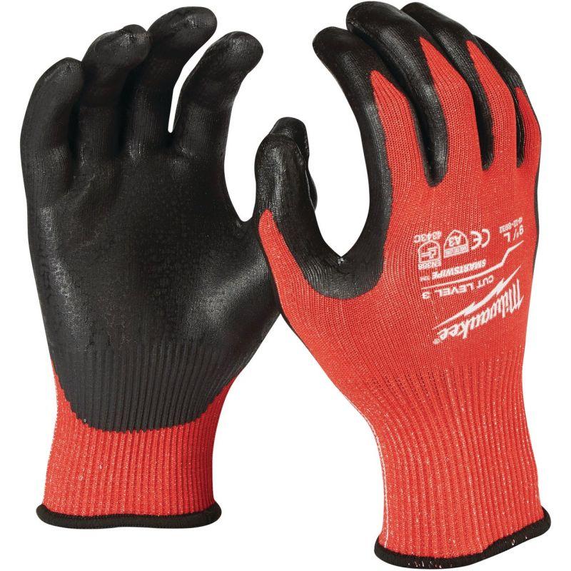Milwaukee Nitrile Coated Cut Level 3 Work Glove XL, Red