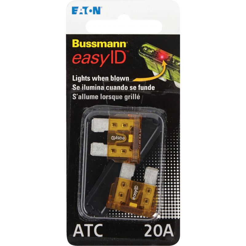 Bussmann easyID Illuminating Automotive Fuse Yellow, 20A