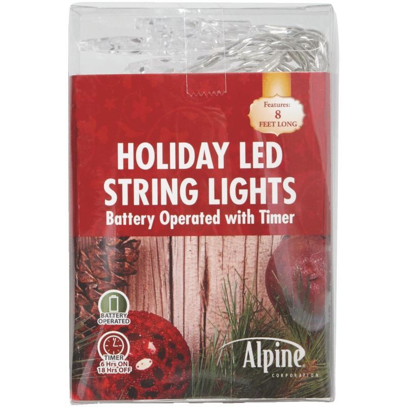 Alpine LED Snowflake Battery Operated Light Set (Pack of 8)