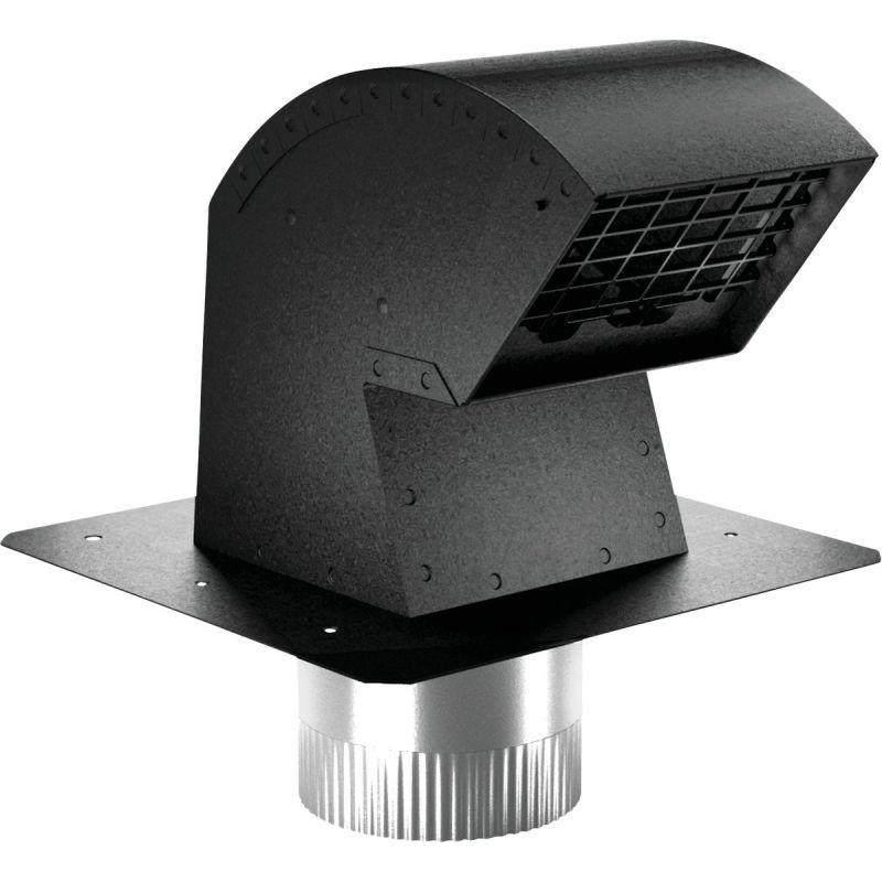 """Imperial R2 Premium Roof Vent Cap 4"""", Black"""