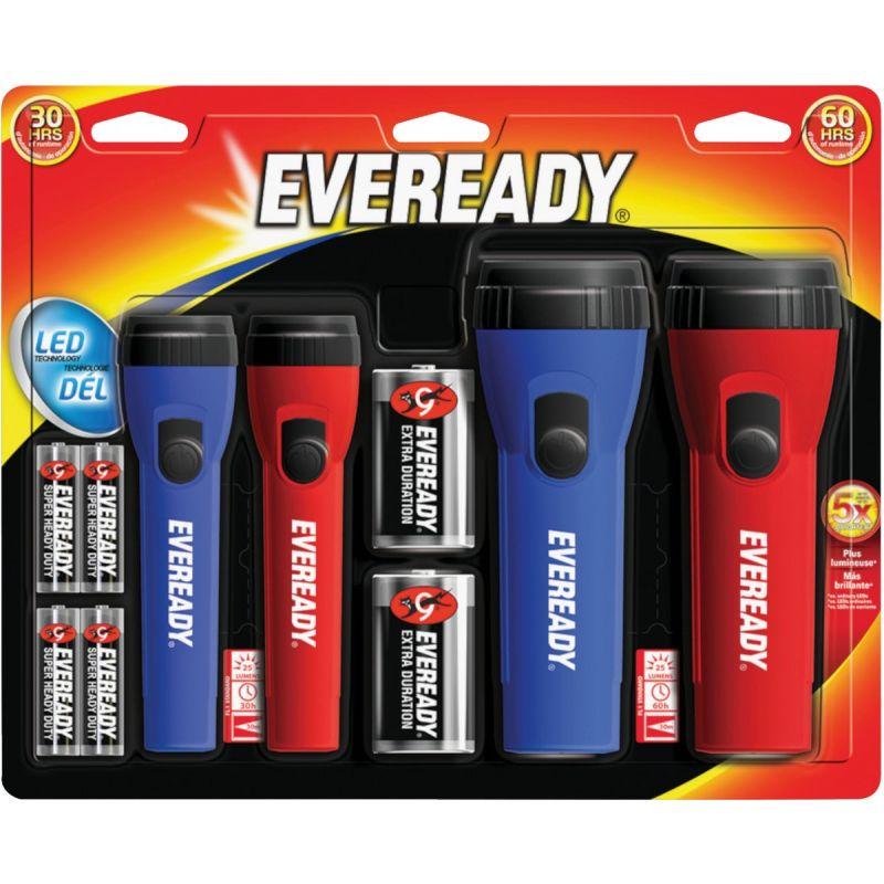 Energizer Eveready LED Flashlight Set Red/Blue