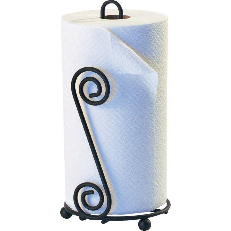 Spectrum Scroll Paper Towel Holder Black