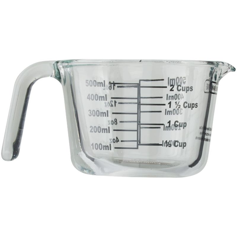 Lifetime Brands Farberware Glass Measuring Cup 2 Cup, Clear