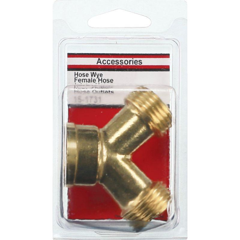 Lasco Brass Wye Hose Connector