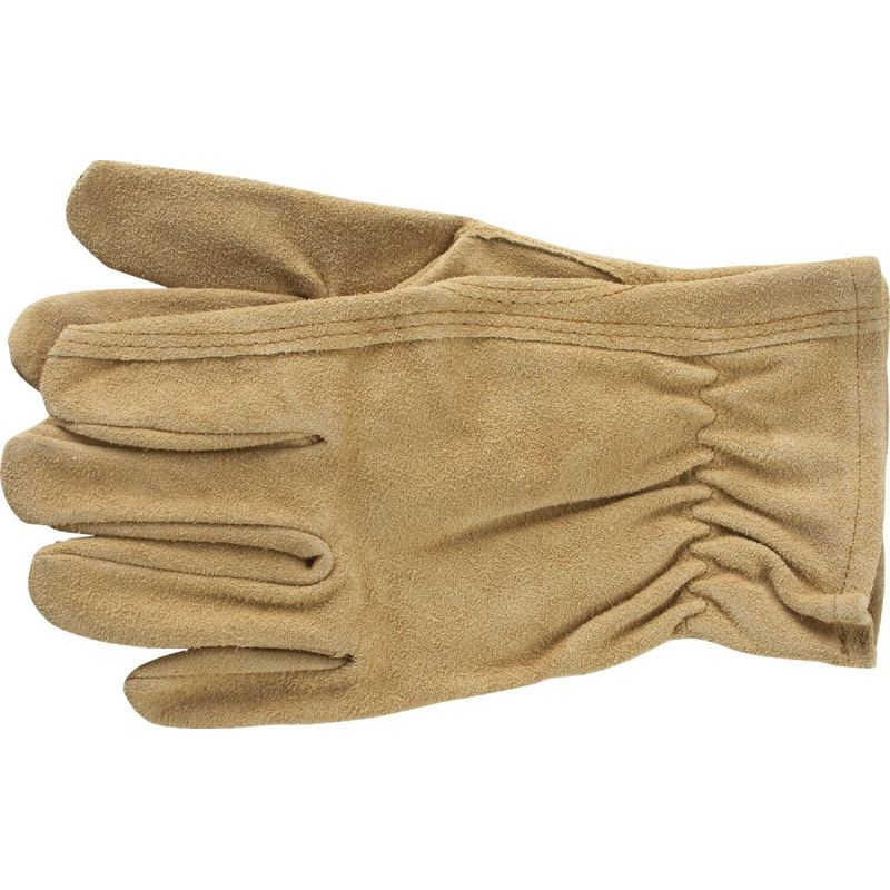 Do it Best Suede Leather Work Glove L, Tan