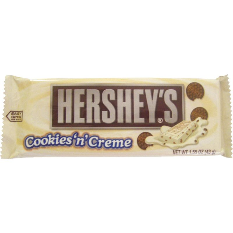 Hershey's Cookies'n'Creme Candy Bar 1.55 Oz. (Pack of 36)
