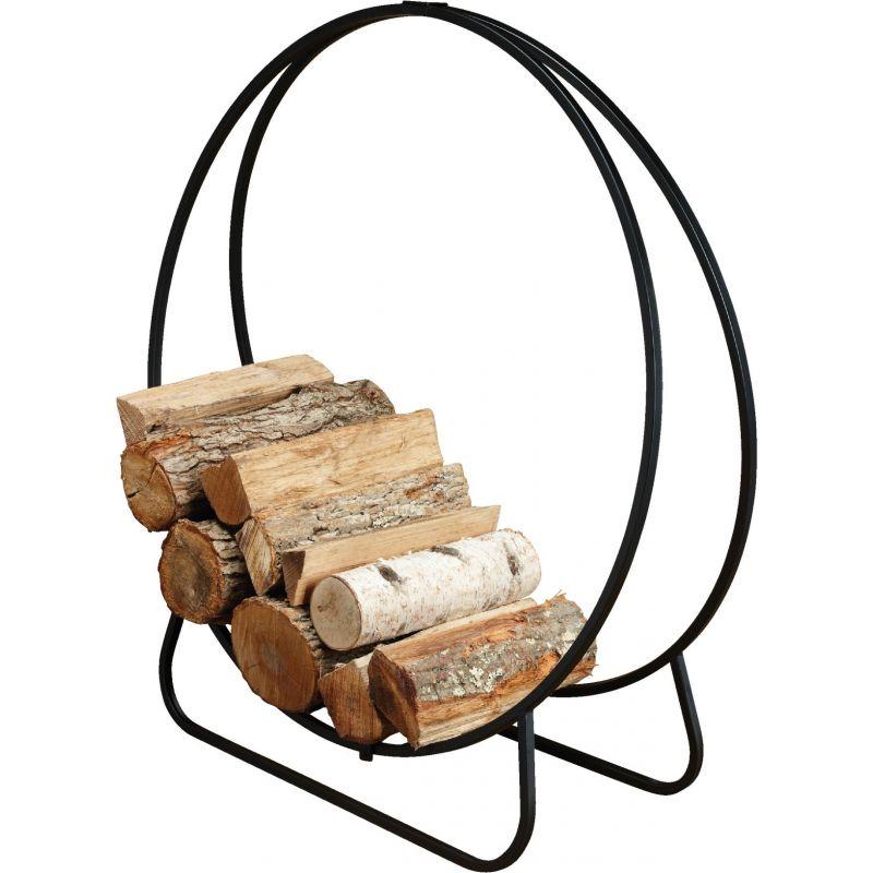 Home Impressions Hoop Log Rack Black
