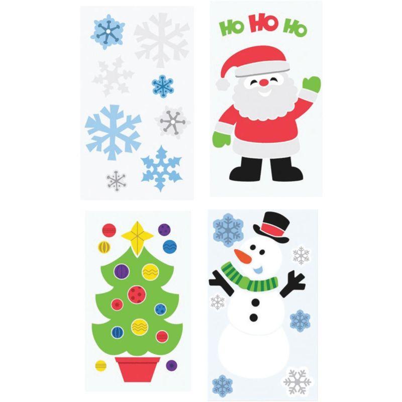 Berwick Offray Gel Christmas Window Cling Gel (Pack of 24)