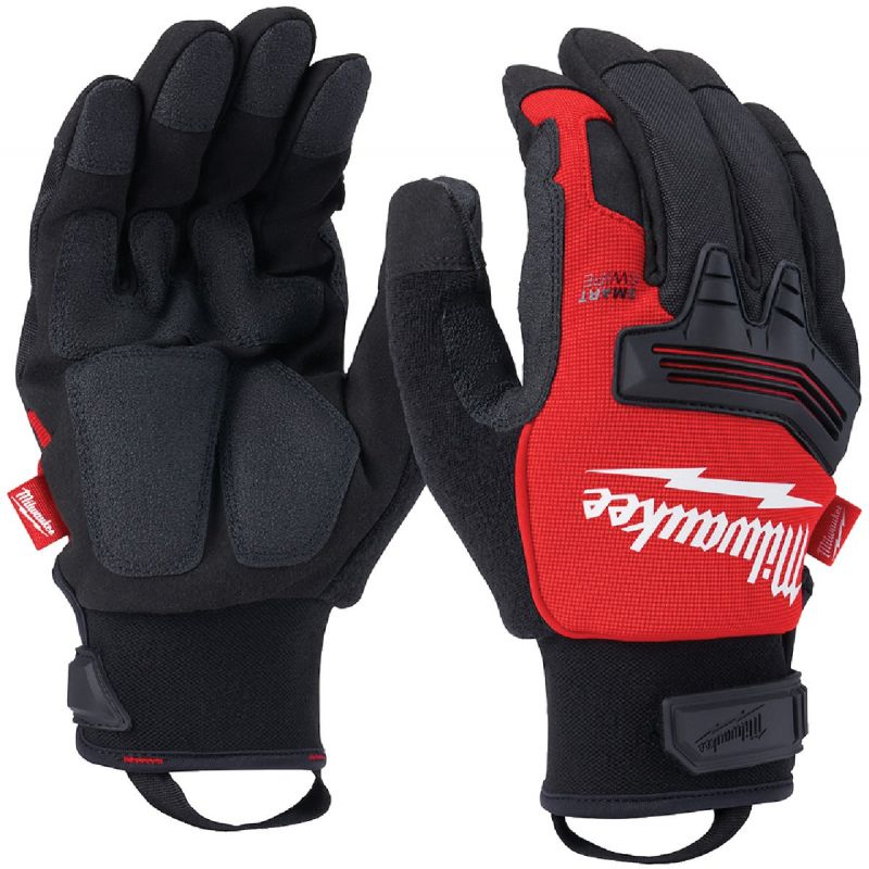 Milwaukee Demolition Winter Gloves XL, Black/Red