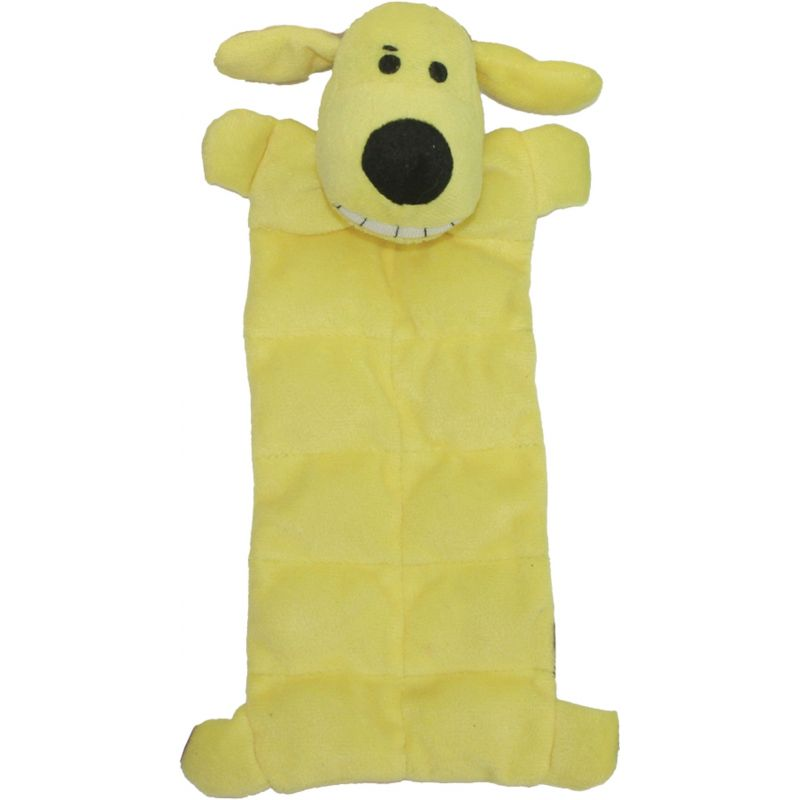 Multipet Loofa Dog Squeaker Mat Dog Toy 12 In., Assorted