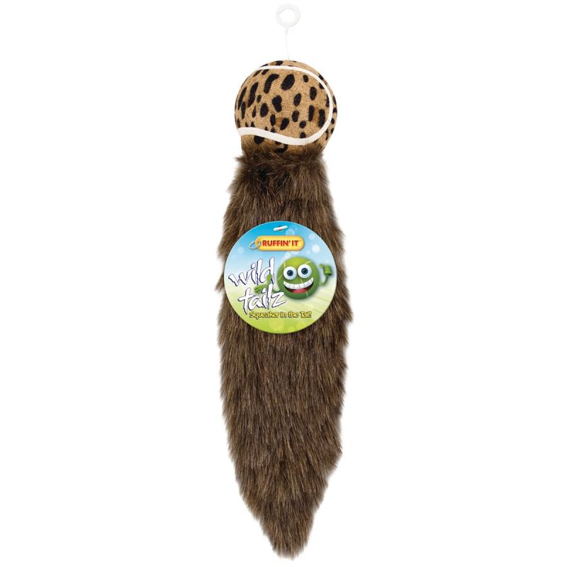 Westminster Pet Ruffin' it Wild Tailz Dog Toy 12 In. L., Animal Print