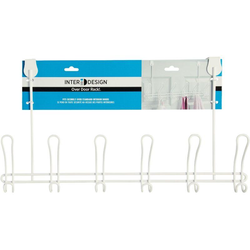 iDesign Classico Over-The-Door Hook Rail White