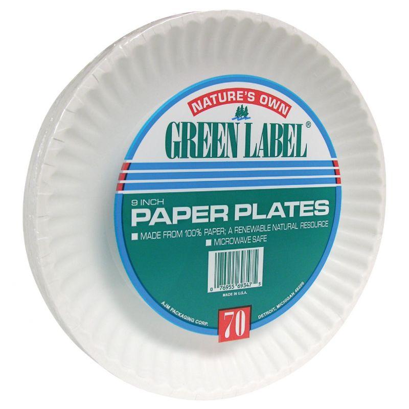 AJM Nature's Own Green Label Paper Plates