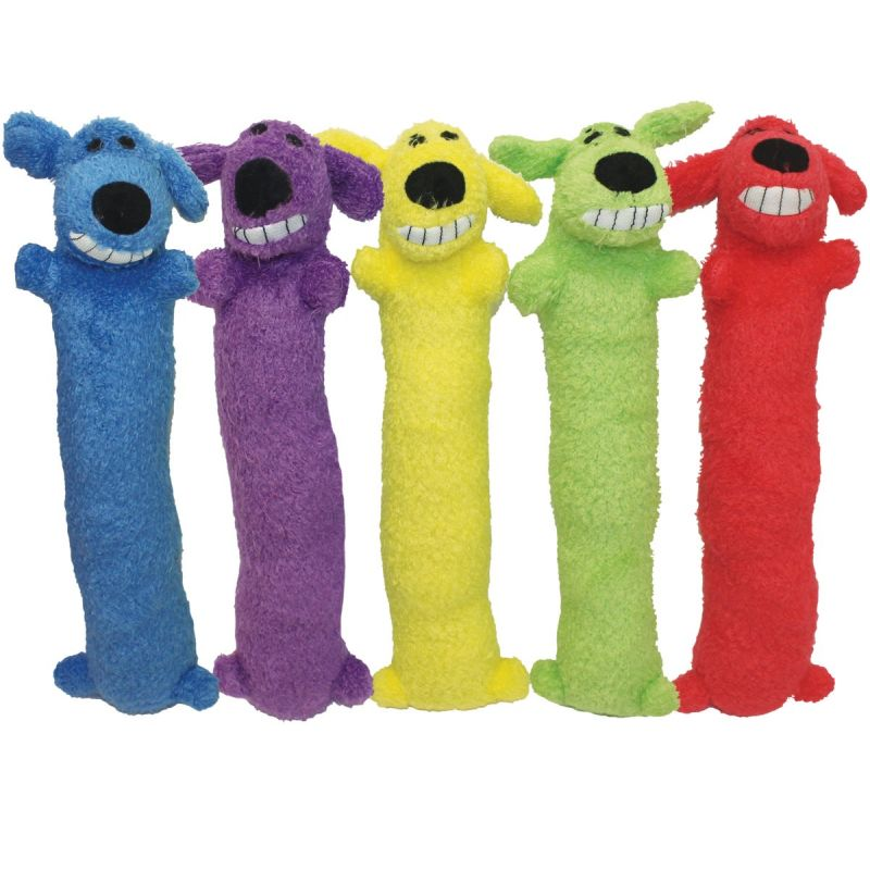 Multipet Loofa Dog Toy 12 In., Assorted
