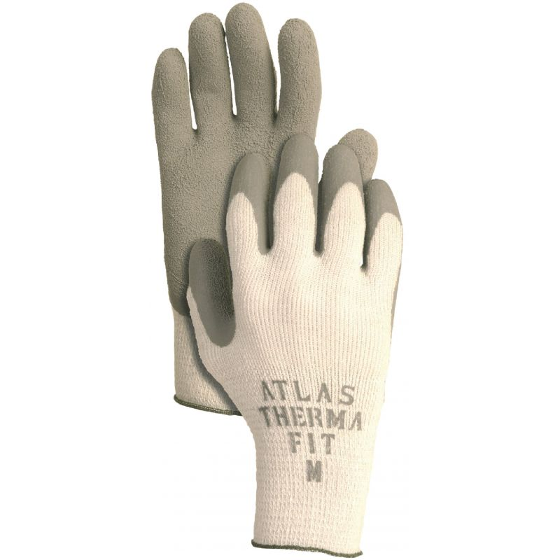Atlas Therma-Fit Latex-Dipped Knit Winter Glove XL, White & Green