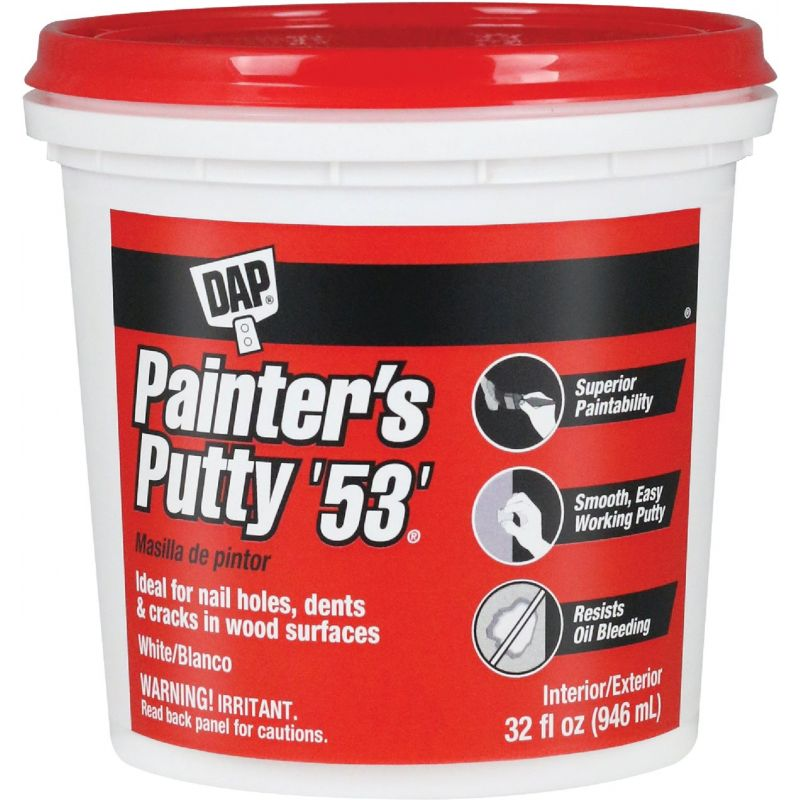 DAP Painter's Putty '53' 32 Oz., White